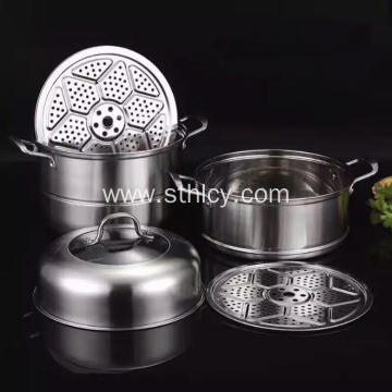 3 Tier Stainless Steel Food Steamer Pot Wholesale